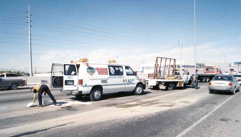 In 1998, the department implemented the Freeway Service Patrol, a fleet of vans that cruise the freeways to help keep traffic safely flowing