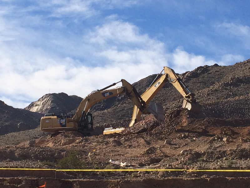 placing pipe at i 11 i 11 excavating