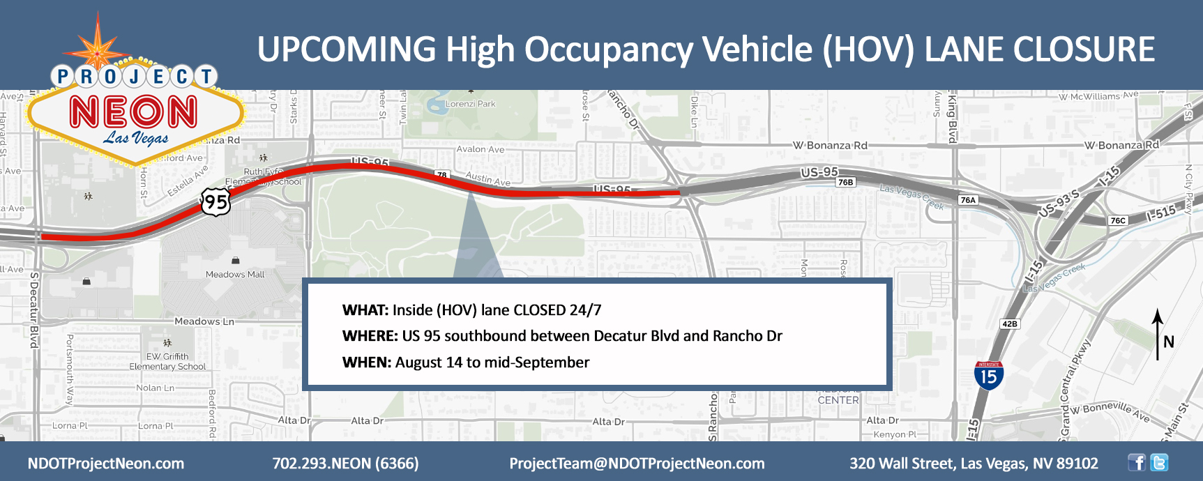 US 95 SB HOV Lane Closure_8.14.17