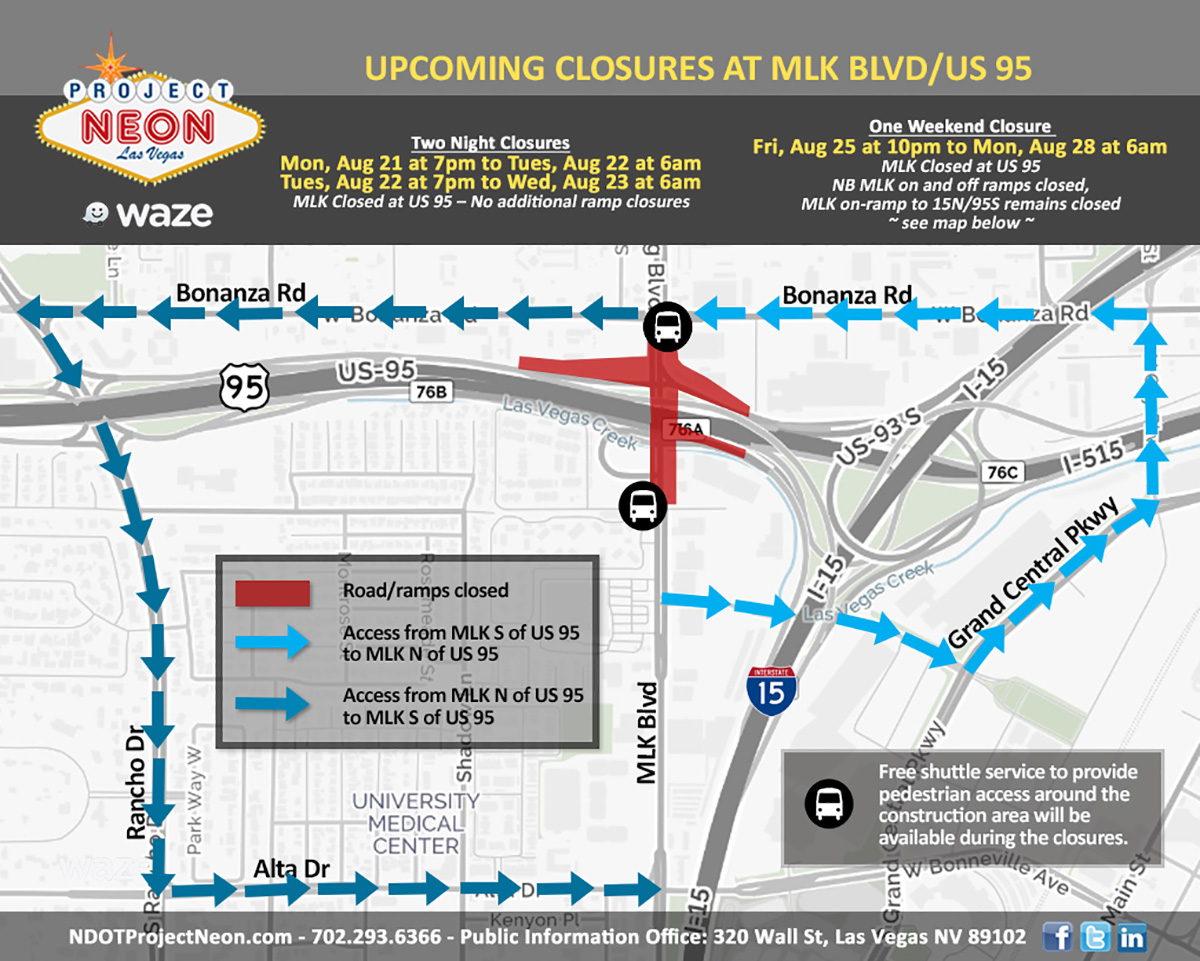 Martin Luther King Boulevard Closed August 21-23 and August