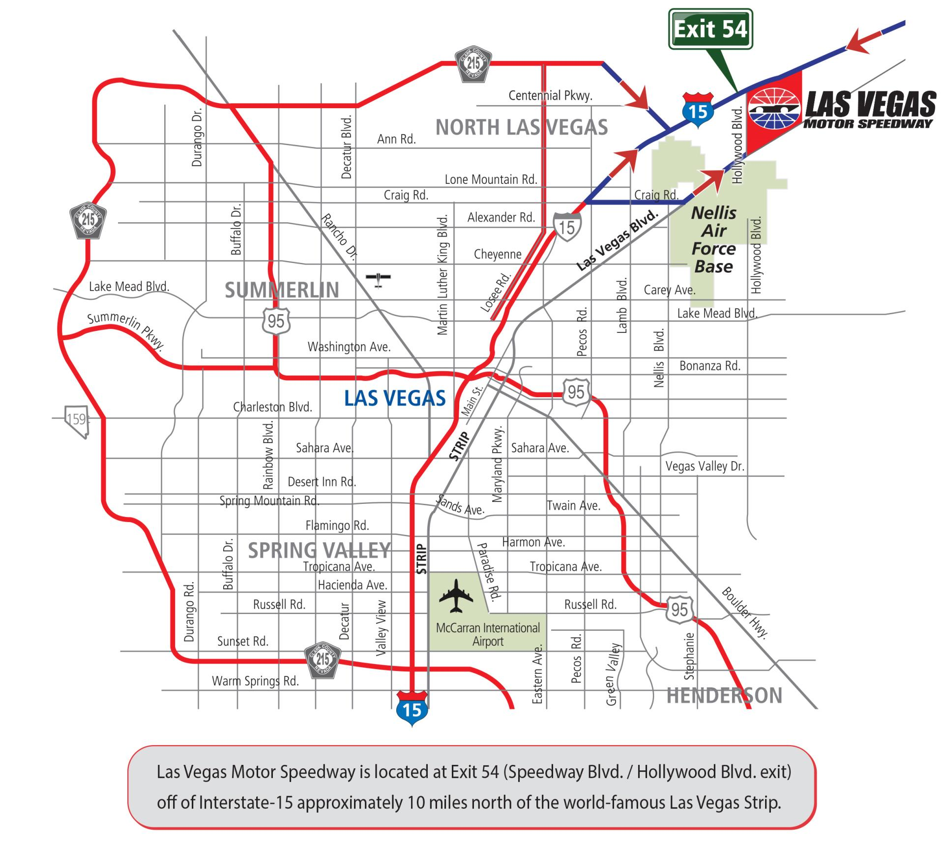 Ndot Expects Heavy I 15 Traffic During Nascar Weekend March 2 4 In