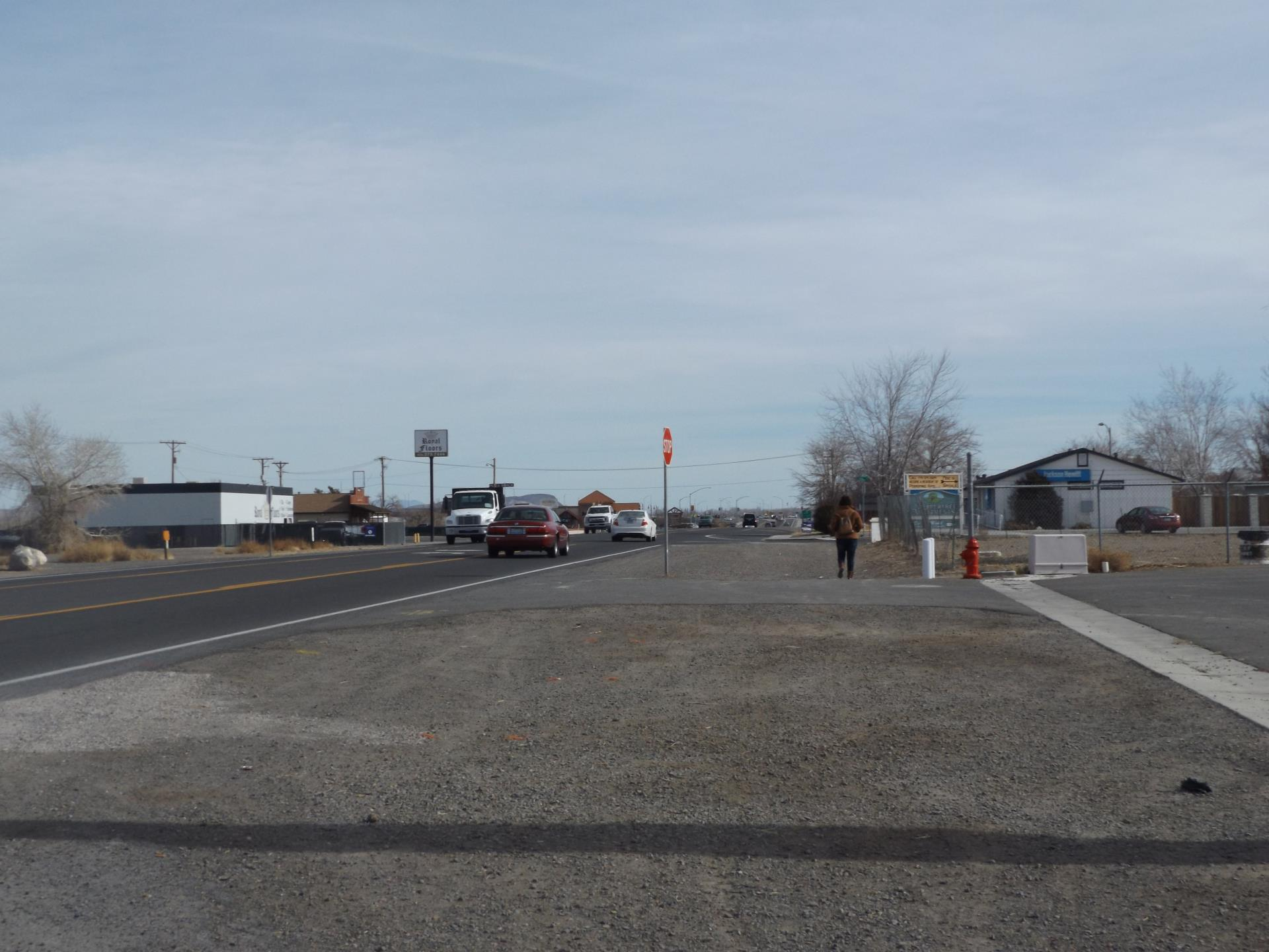 A photo of the Main Street sidewalk in Fernley, Nevada