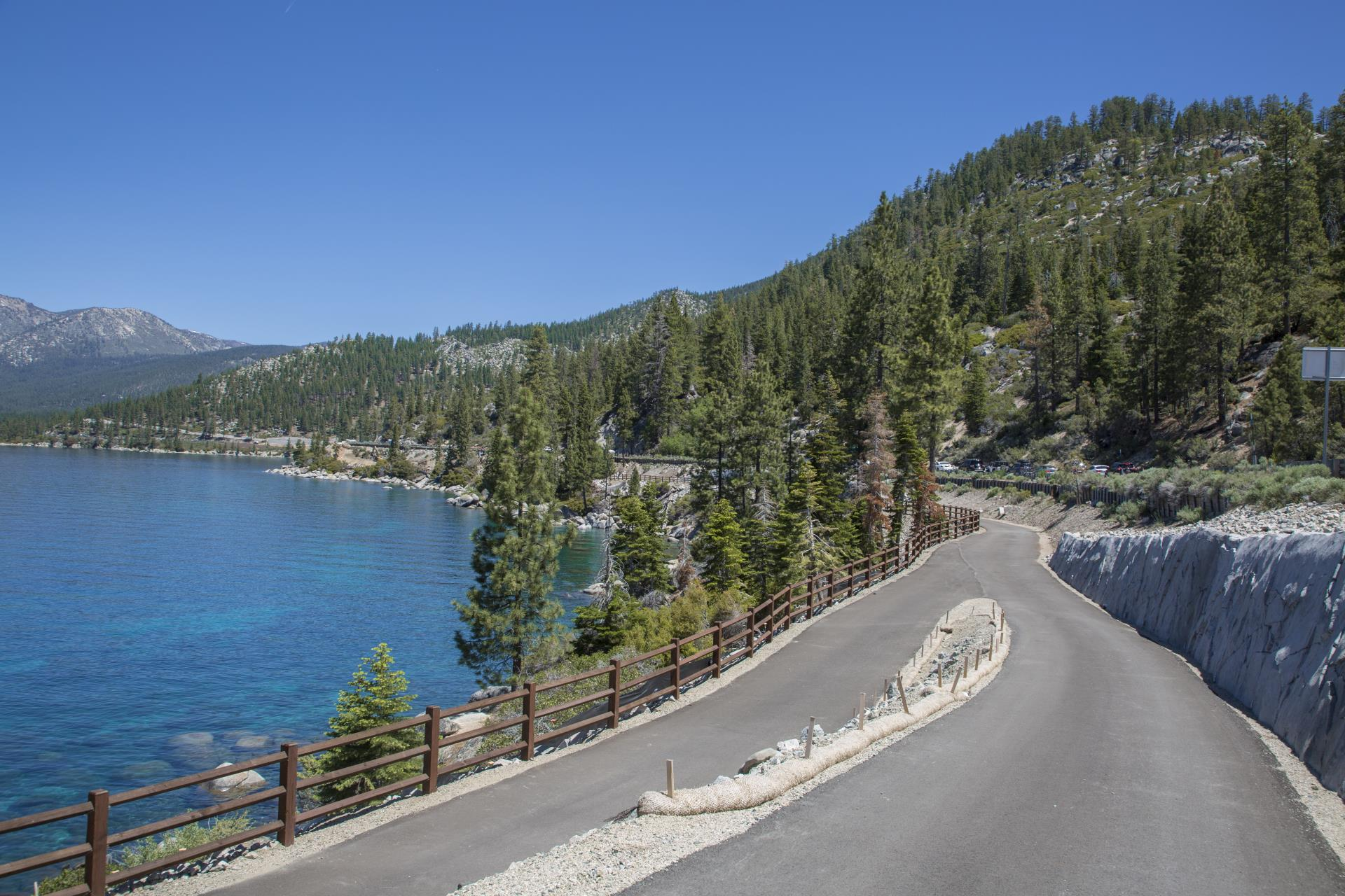 The SR 28 Shared Use Path in Lake Tahoe from June 2018