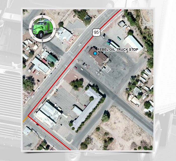 Exit Rebel Oil Truck Stop Nevada Department Of Transportation - Map of truck stops in us