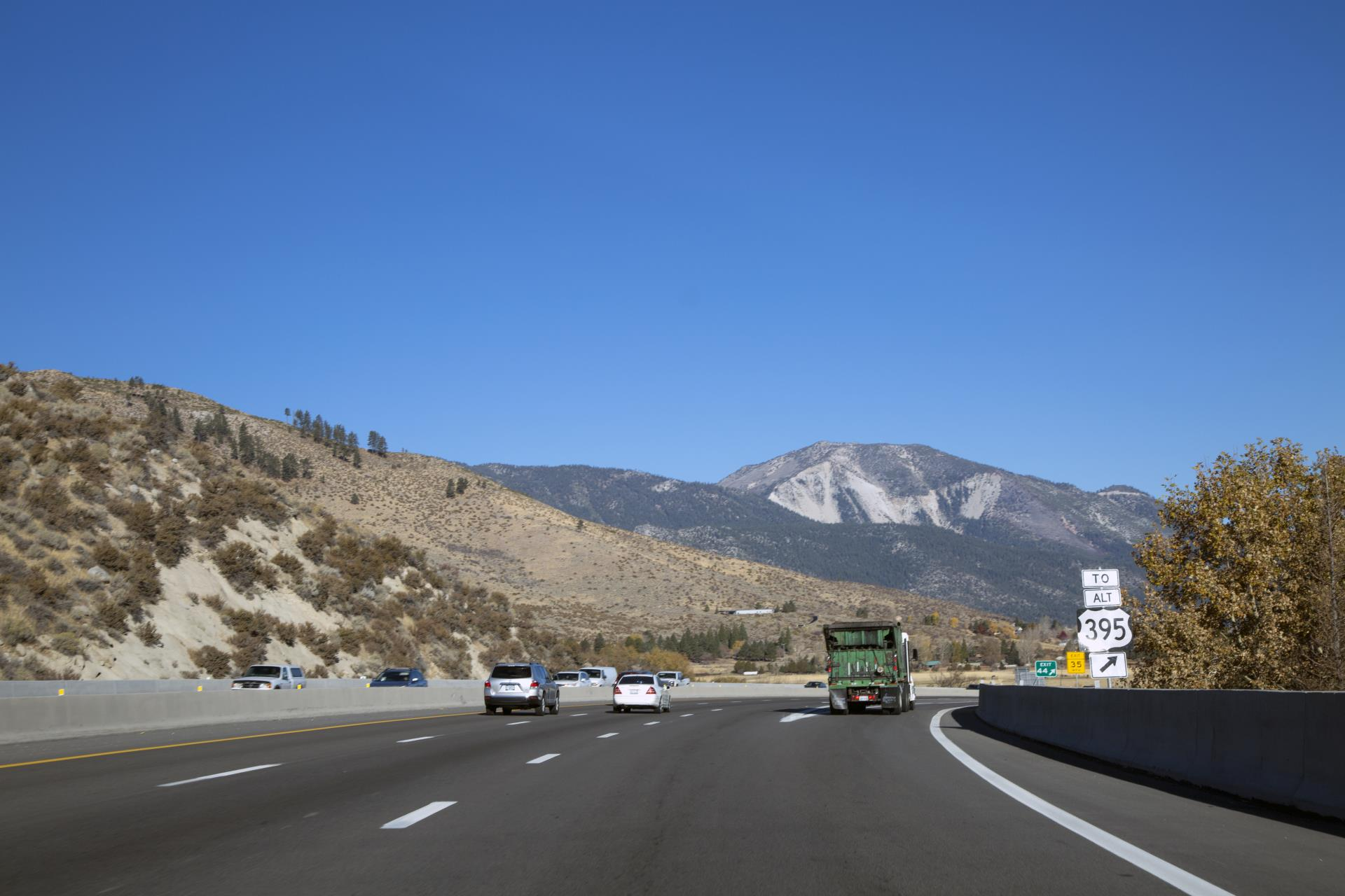 North U.S. 395/I-580 in Carson City at Eastlake Boulevard Exit