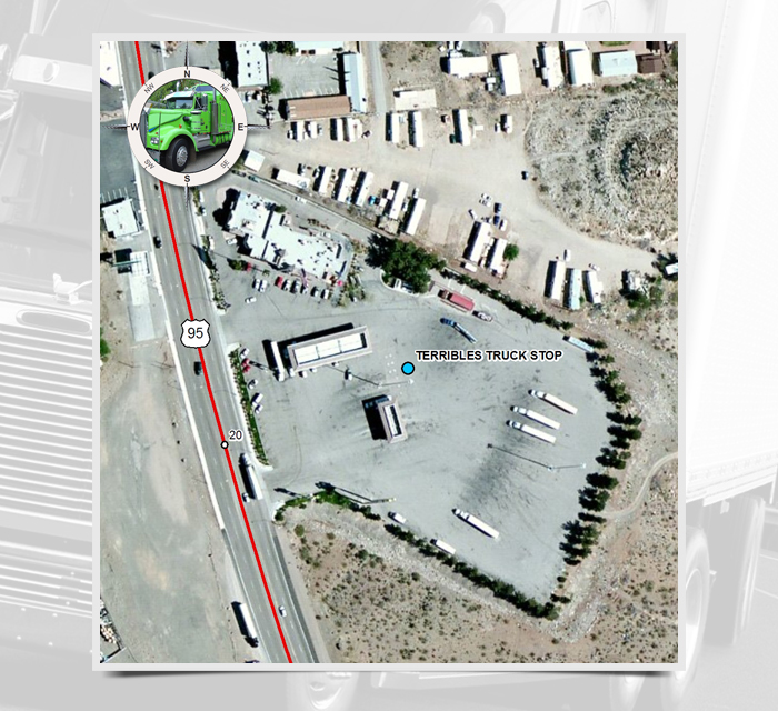 MP Terribles Truck Stop Nevada Department Of Transportation - Map of truck stops in us