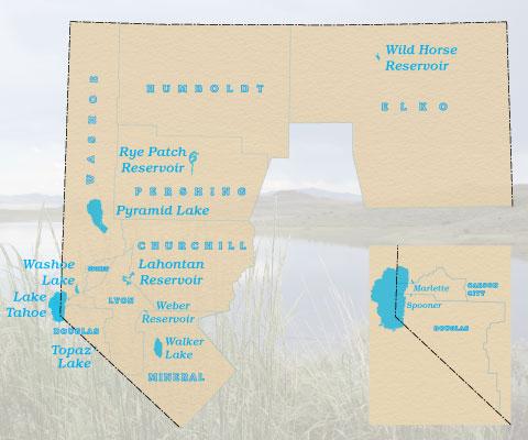 Nevada Bathymetric Map Index