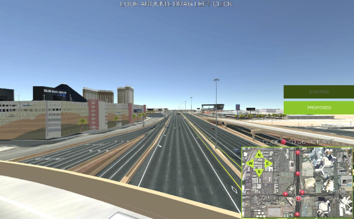 View a 3D simulation of the preferred alternative  at http://civilfx.com/360TropI15/