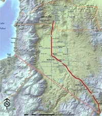 Us 395 Southern Sierra Corridor Study Nevada Department Of - Us-395-map