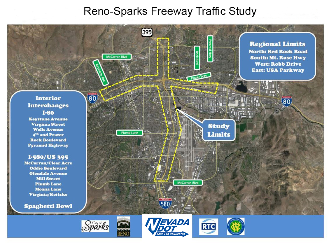 Reno-Sparks Freeway Traffic Study map
