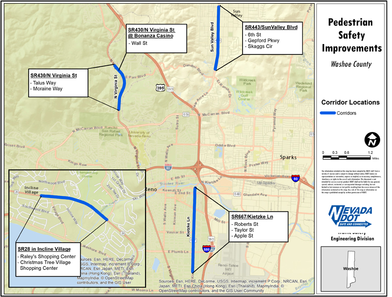 Northern Nevada Pedestrian Projects