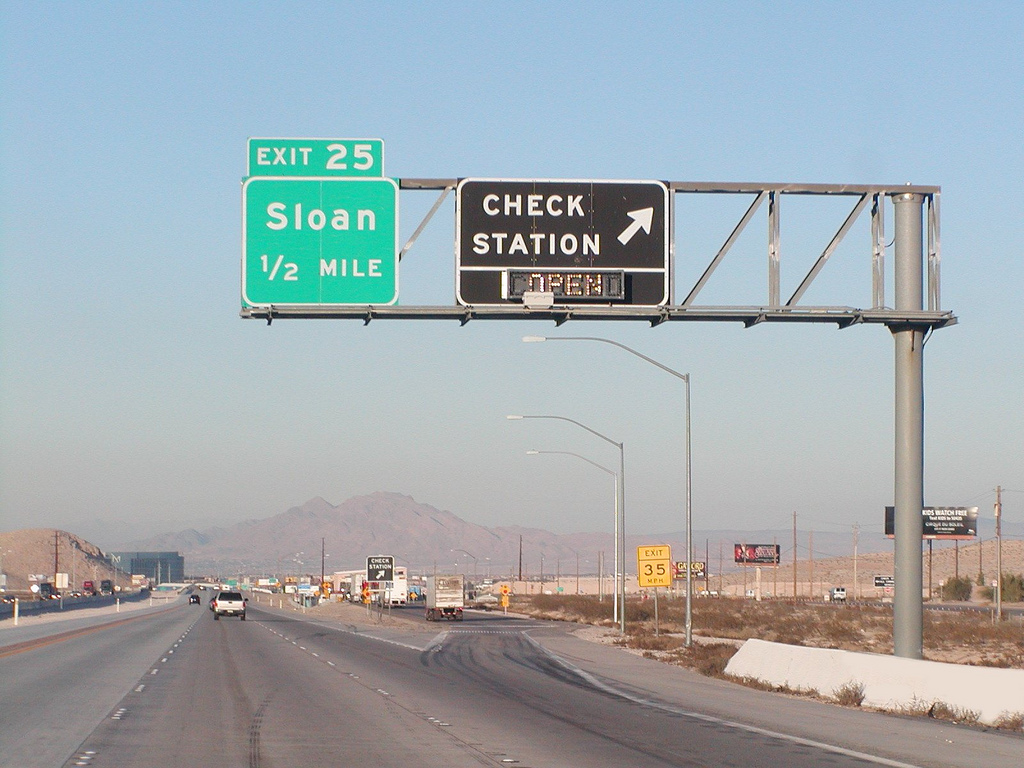 Sloan Truck Weigh Station Lane Closure Along Interstate 15 ... on