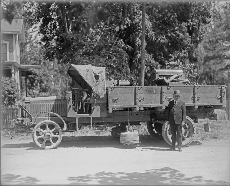 Early Department of Highways truck