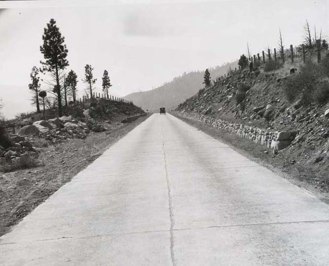 1920's first concrete road through Washoe Valley