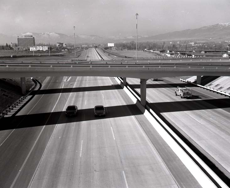 1972 photo of I-80 Completion in Reno/Sparks.