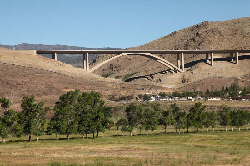 The Galena Creek Bridge between Reno and Carson City opened to vehicle traffic in August 2012. It is the highest cathedral arch bridge in the world.
