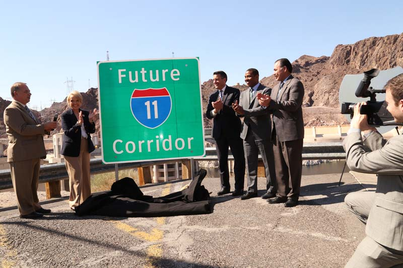 In 2015, NDOT broke ground on the first phase of the Interstate 11 that will improve motorist safety and convenience with a direct link bypassing Boulder City. The project marks the first new infrastructure to the Interstate Highway System since it was deemed complete in 1992.