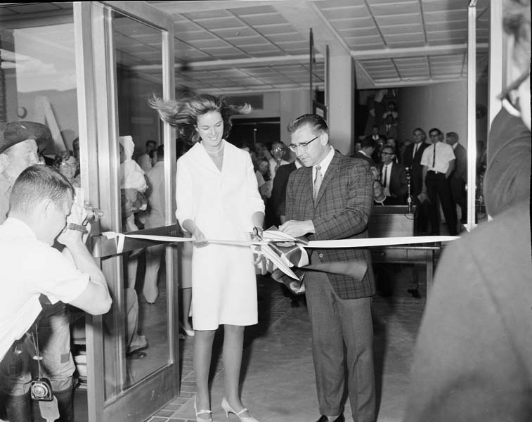 1965 Headquarters Building in Carson City Ribbon cutting