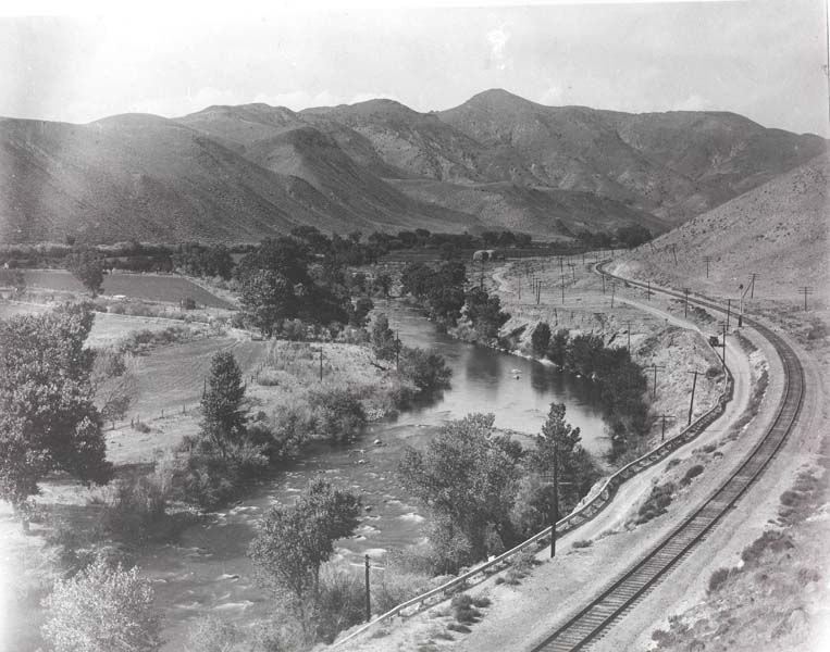 1920's Truckee River Highway US 40 (now I-80)