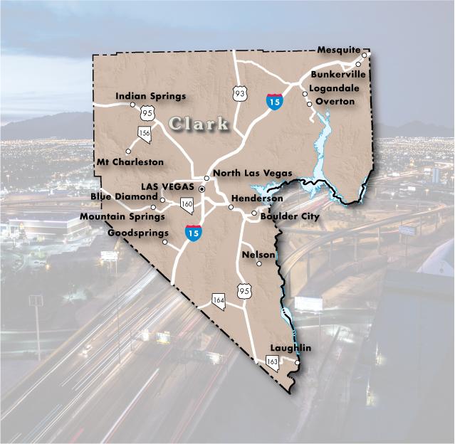 clark county map nevada Clark County Nevada Department Of Transportation clark county map nevada
