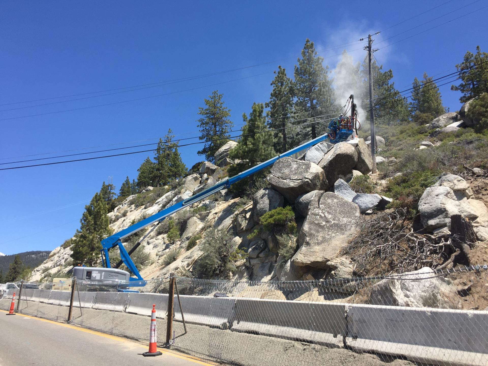 Boulder Removal near Incline