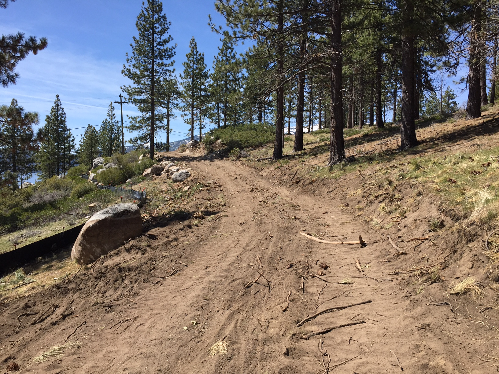 Mountain side Path Grading