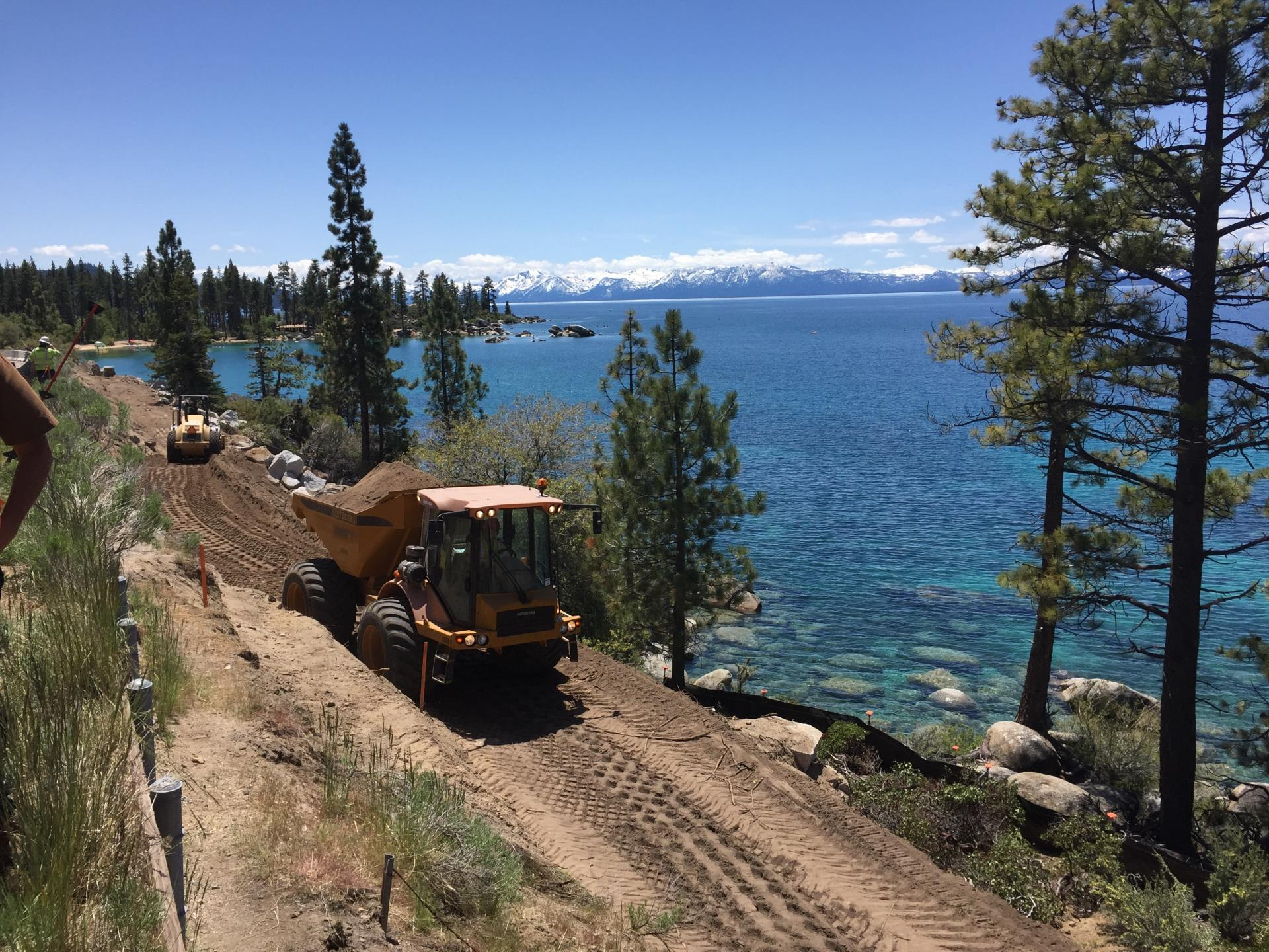 Path Grading near Sand Harbor 2