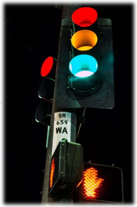 A photo of a traffic light