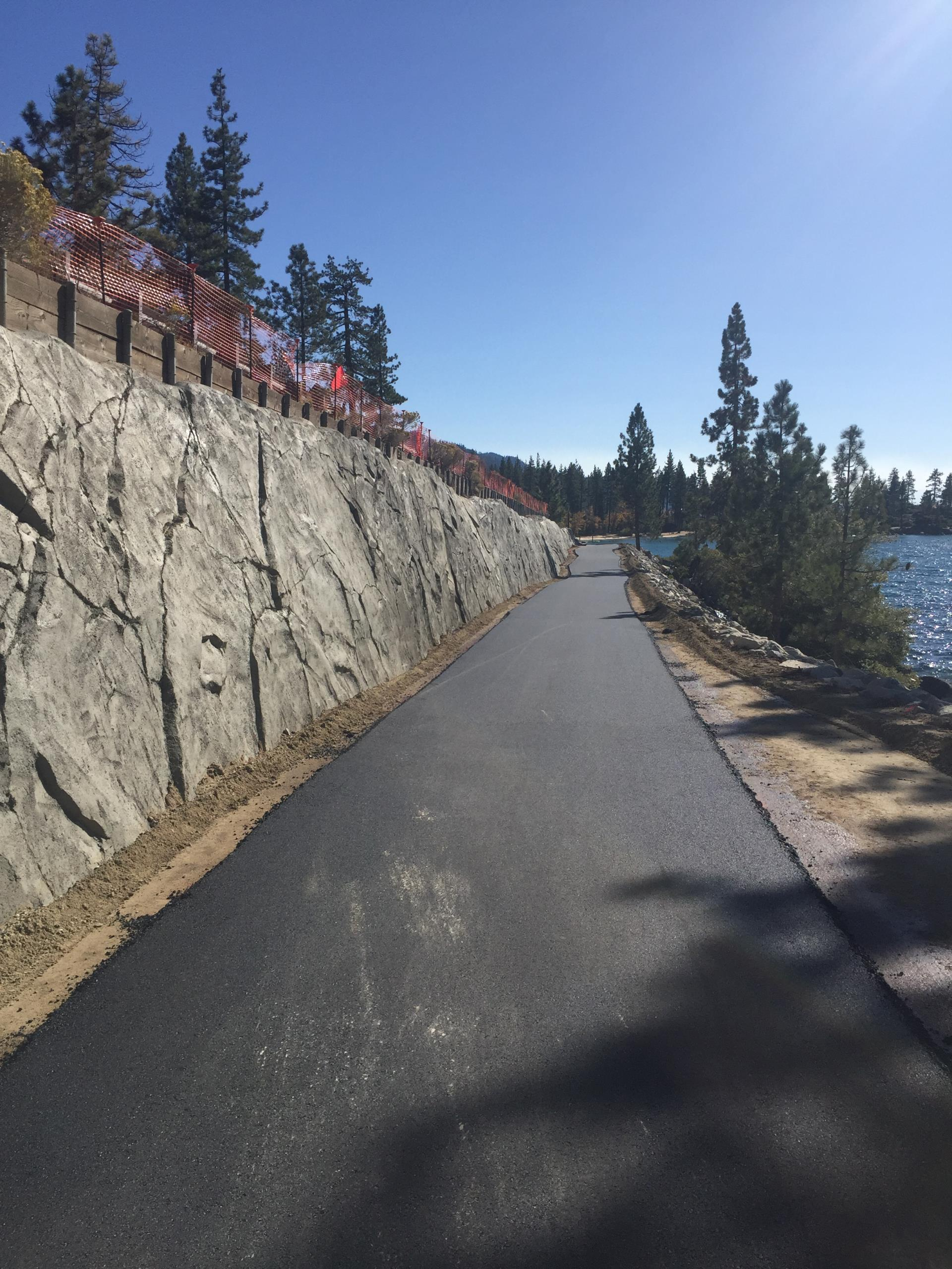 Sculpted Wall and path North of Sand Harbor