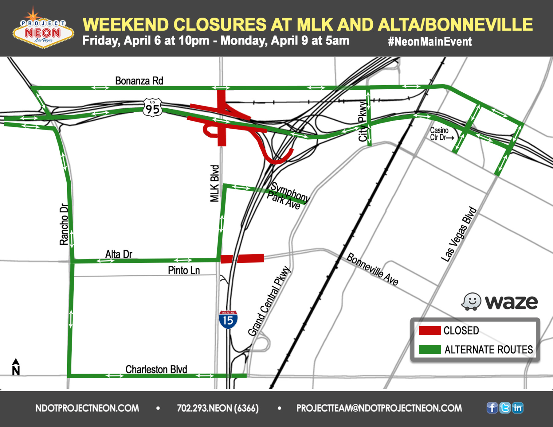 Alta and MLK Closures