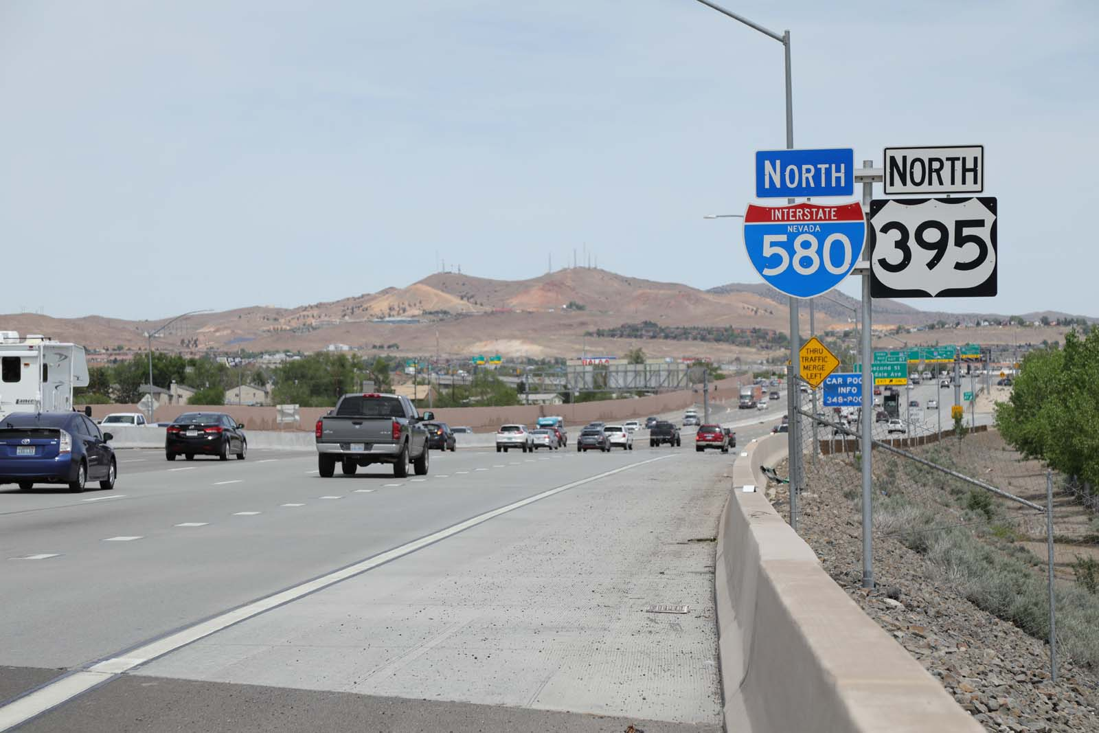 Sections of aging concrete will be replaced on I-580 and U.S. 395 from Second Street to North McCarran Boulevard near the Reno Spaghetti Bowl.