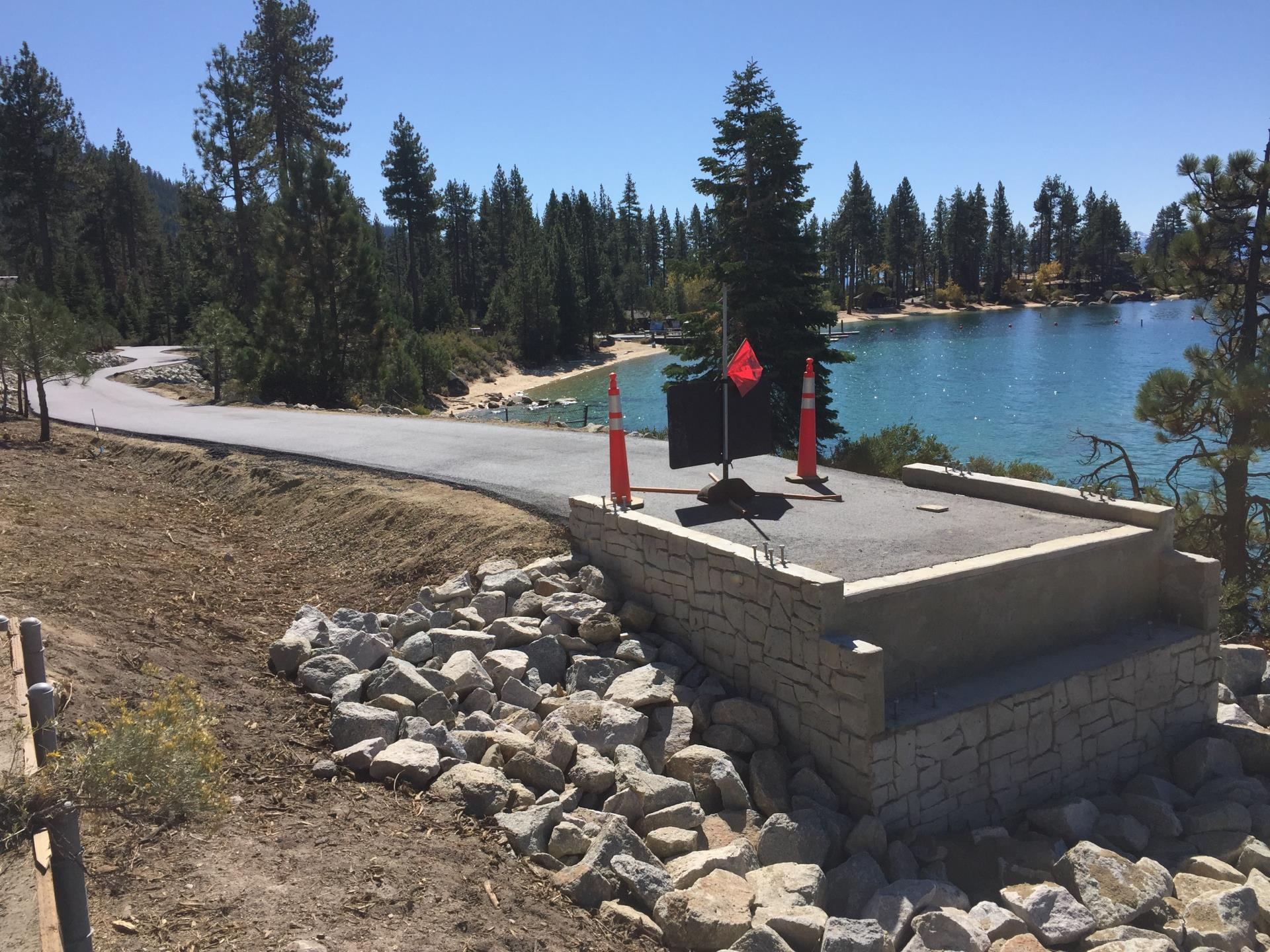 Bridges will be installed on State Route 28 in Lake Tahoe in October 2018