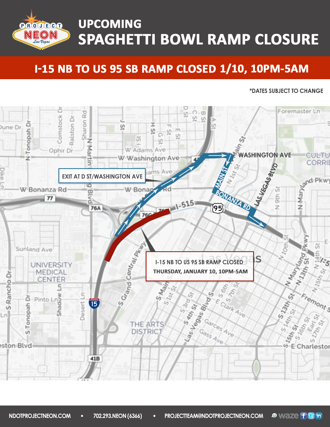 I-15 N to US 95 S Ramp Closed_1.10.19