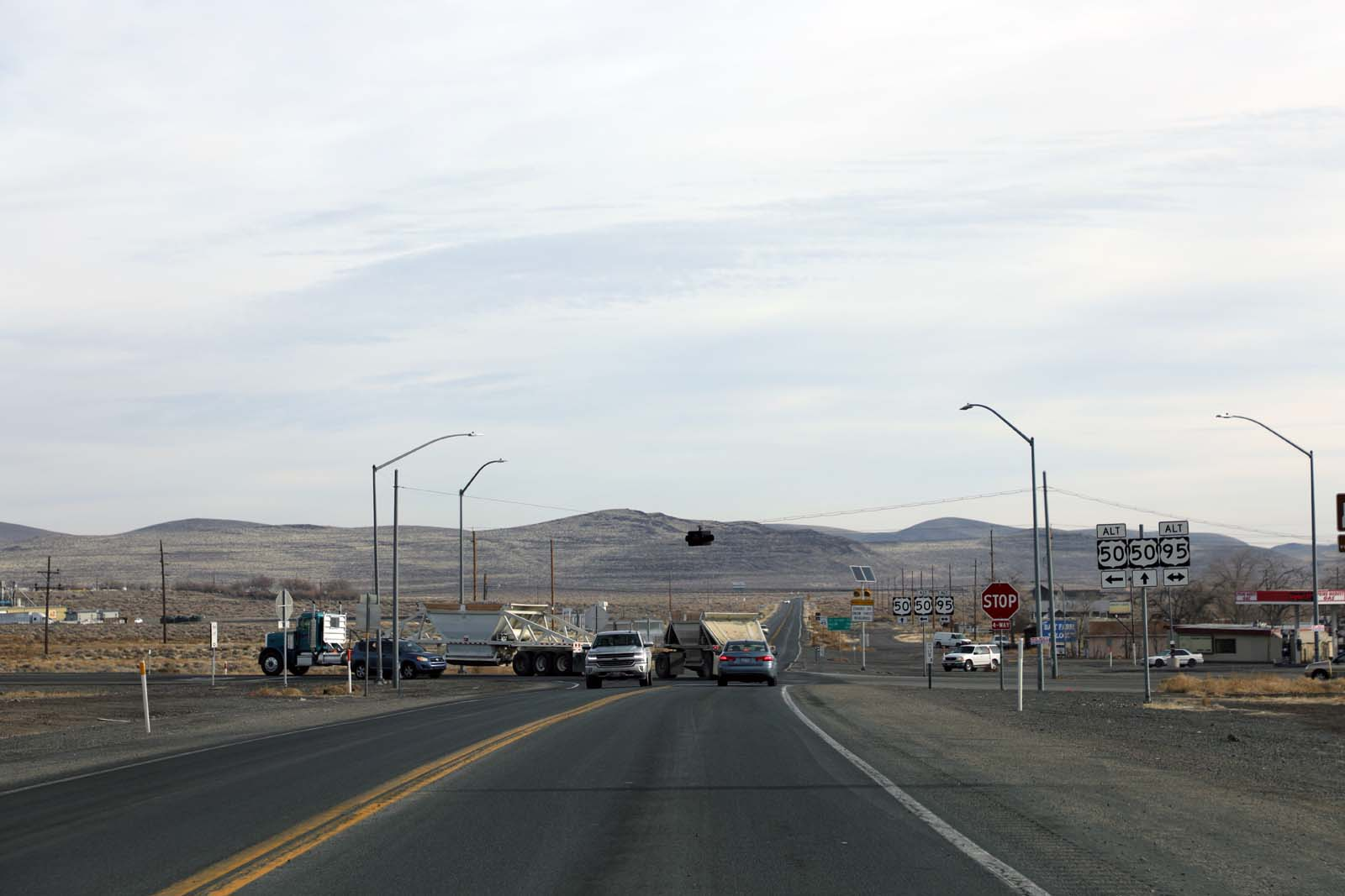 The site of the future roundabout at US 50 and 95A in Nevada