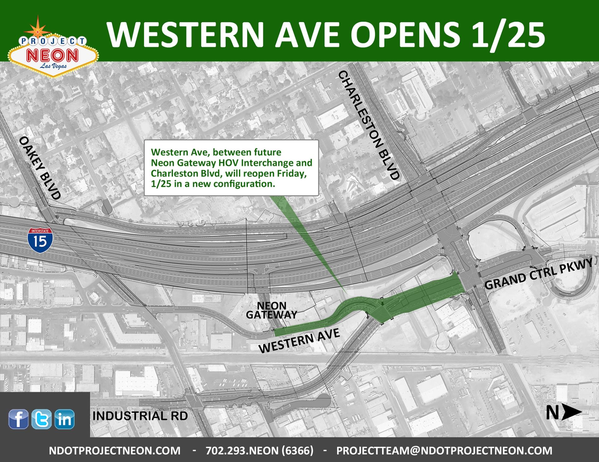 Western Ave Opens 1-25