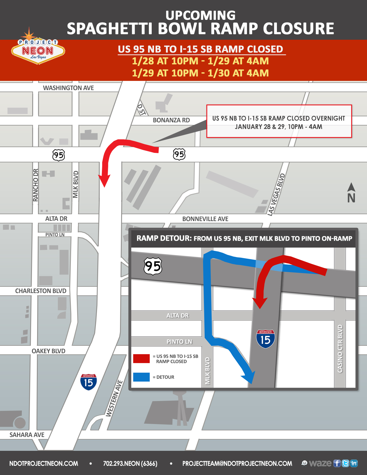 US 95 N to I-15 S Ramp Closure_1.28.19 & 1.29.19