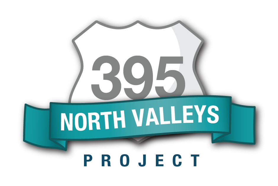 A graphic logo for the U.S. 395 North Valleys Project