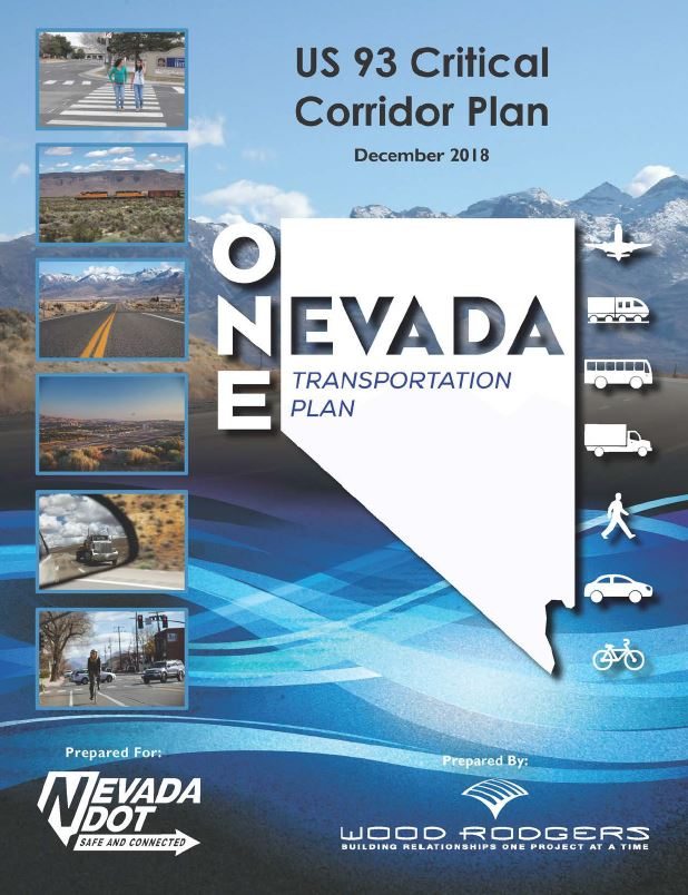 Cover for the US 93 Critical Corridor Plan