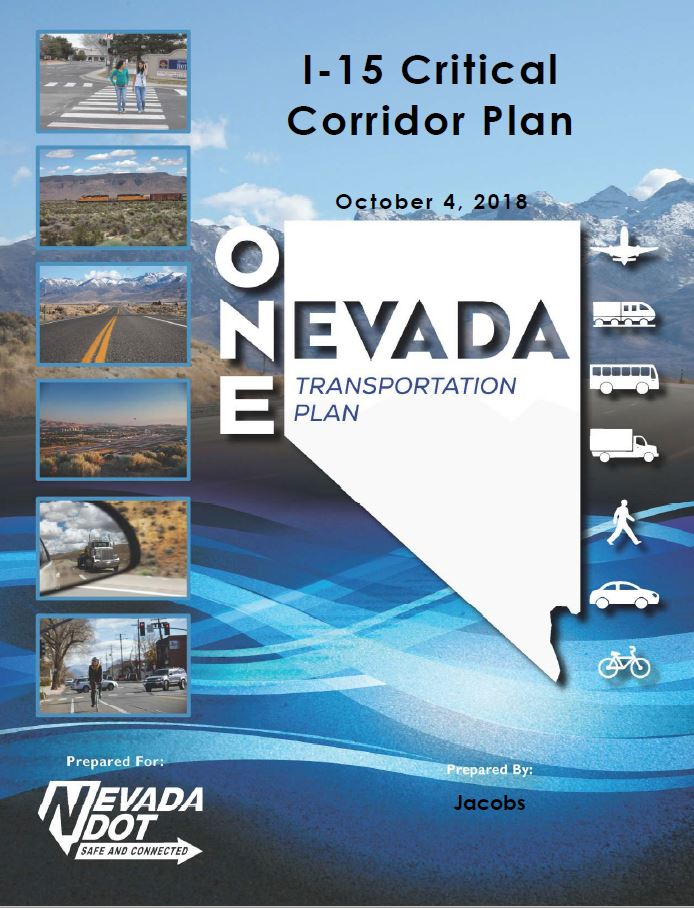 Cover for the I-15 Critical Corridor Plan