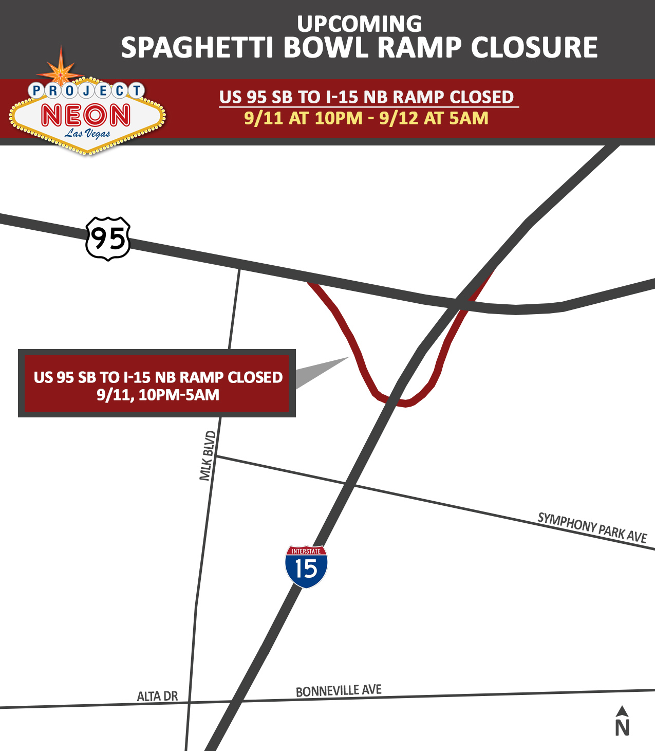 US 95 SB to I-15 NB Ramp Closure_9.11