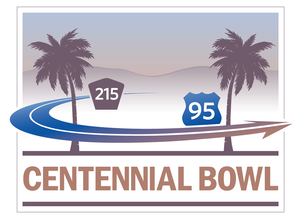 A graphic for the Centennial Bowl Project in Las Vegas.