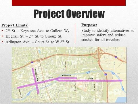 Second Street And Arlington Avenue Safety Management Plan Map