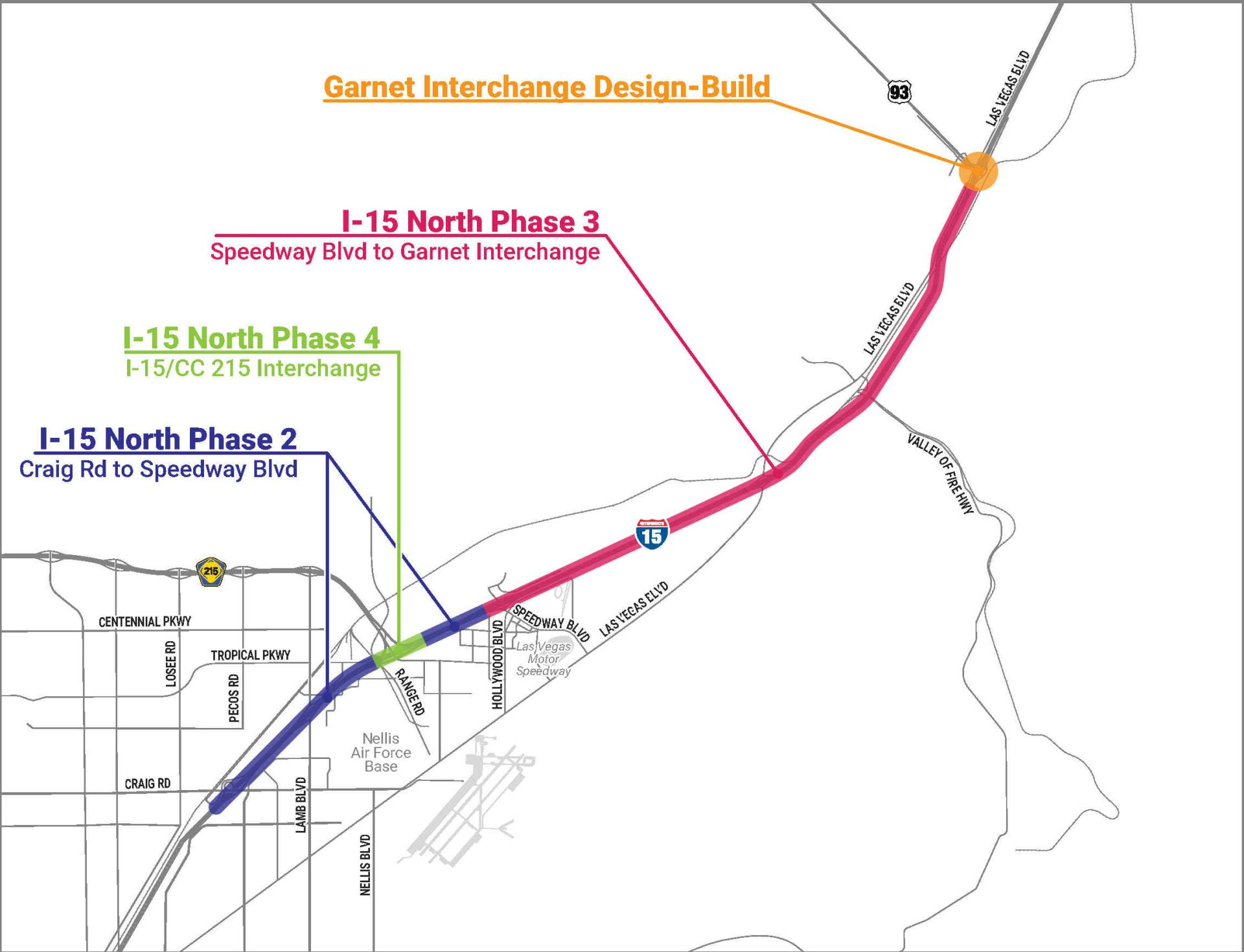 I-15 North Project Area Map